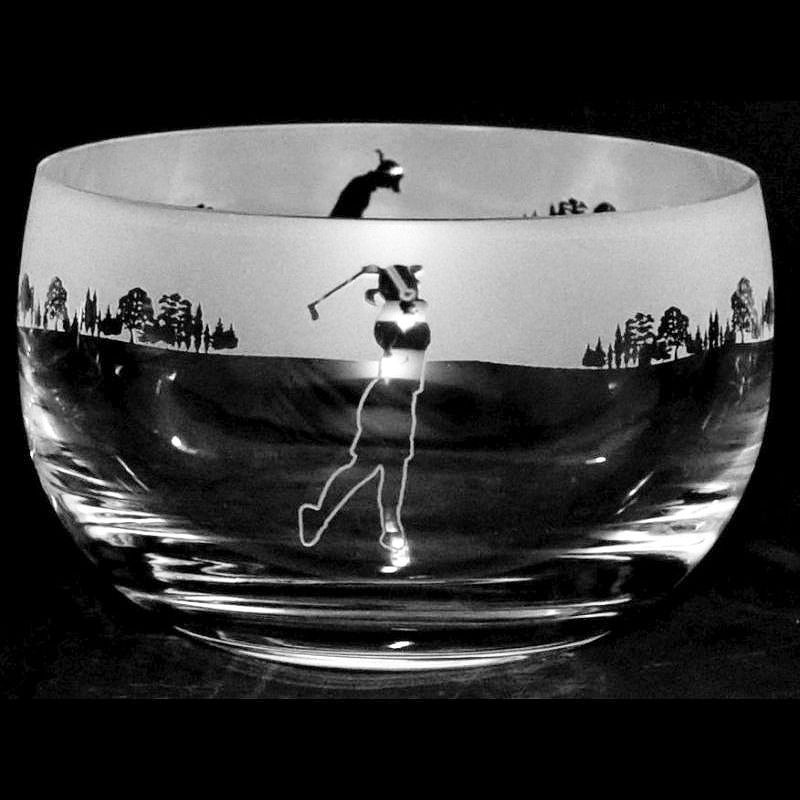 LADY GOLF Large Crystal Glass Bowl