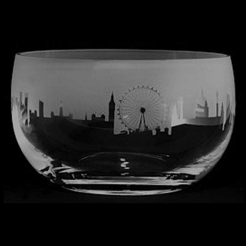 LANDMARK LONDON Medium Crystal Glass Bowl