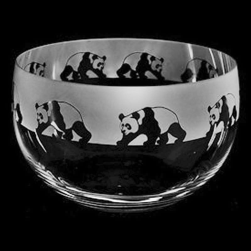 PANDA Medium Crystal Glass Bowl