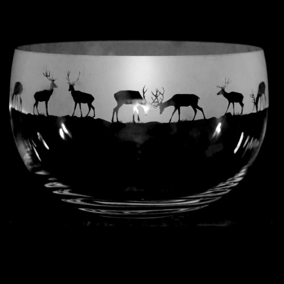 STAG Large Crystal Glass Bowl