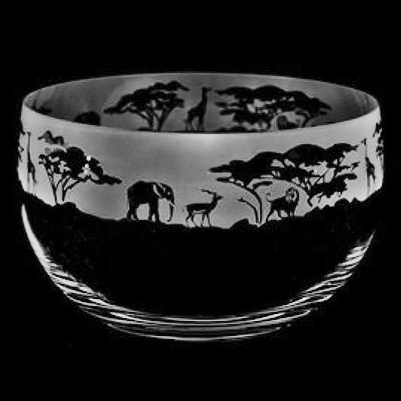 SAFARI Large Crystal Glass Bowl