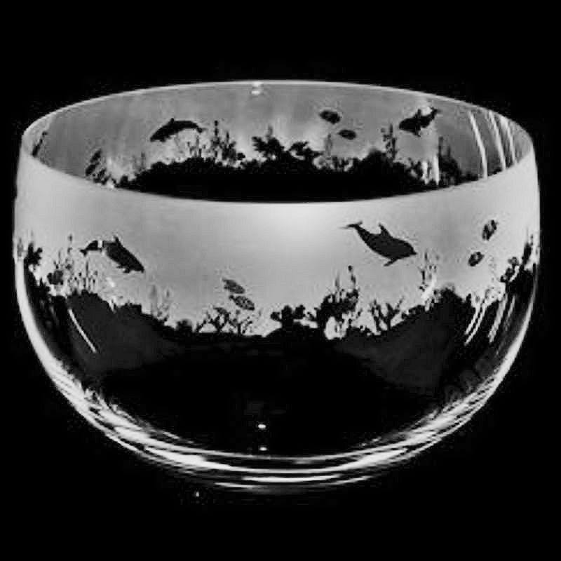 SEASCAPE Large Crystal Glass Bowl