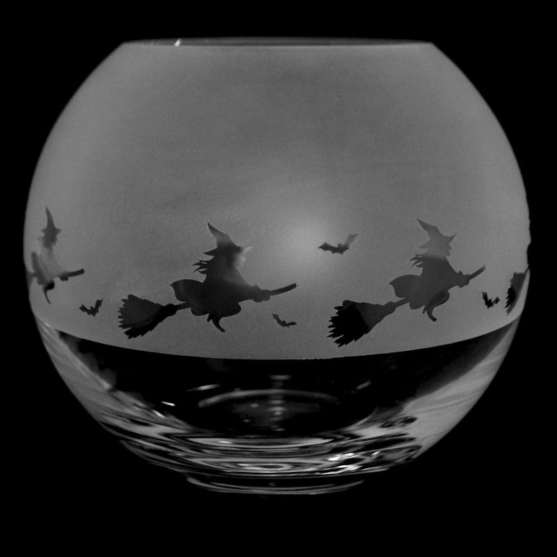 WITCH Small Crystal Glass Globe Vase