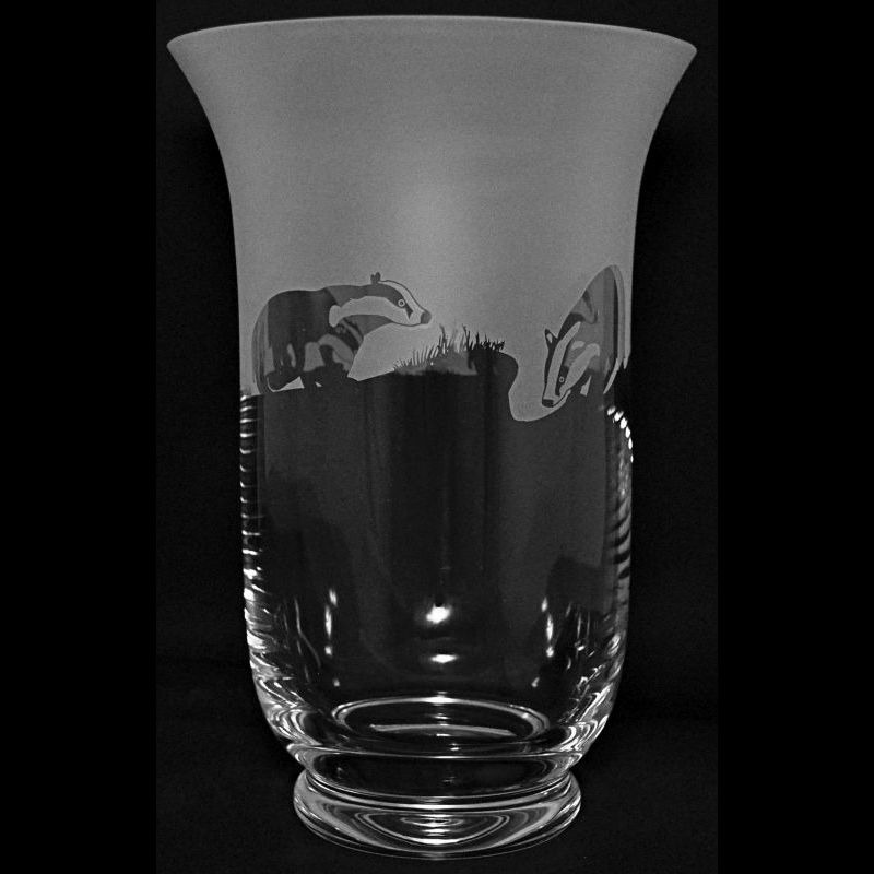 BADGER 23.5cm Crystal Glass Vase
