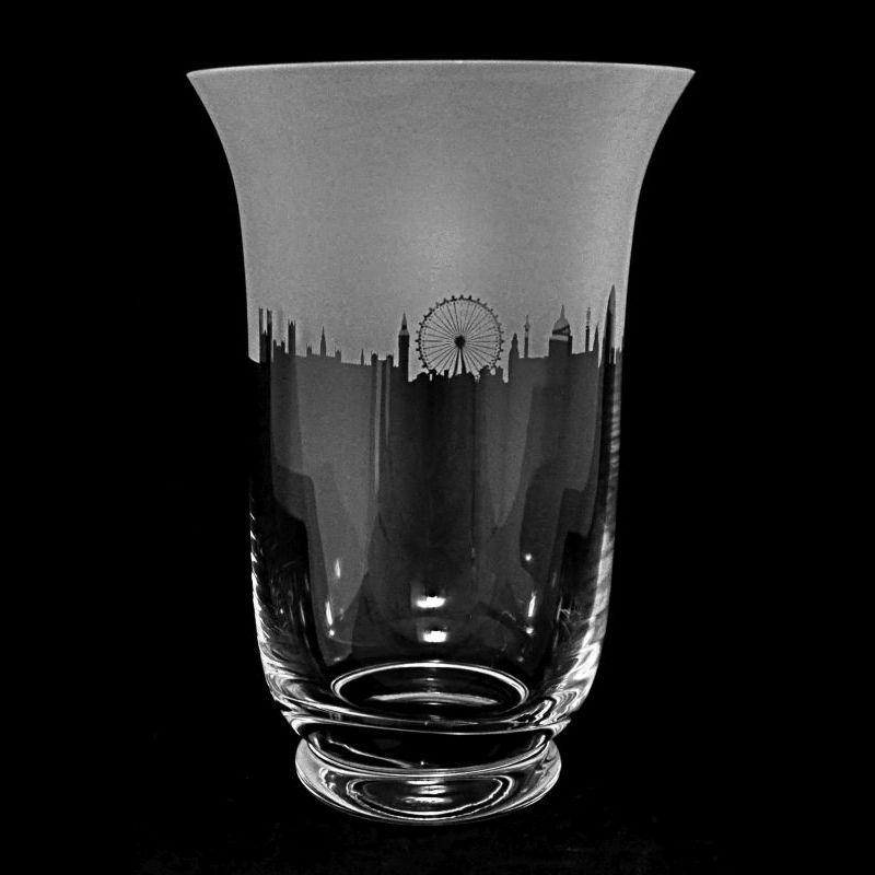 LANDMARK LONDON 23.5cm Crystal Glass Vase
