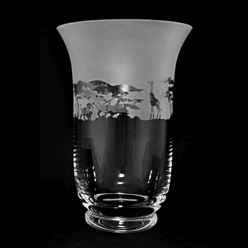 SAFARI 23.5cm Crystal Glass Vase