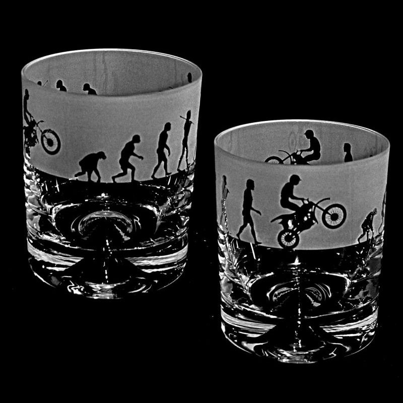 EVOLUTION – MOTORCROSS – Whisky Tumbler