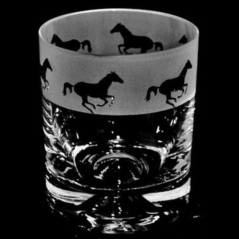 GALLOPING HORSE Whisky Tumbler