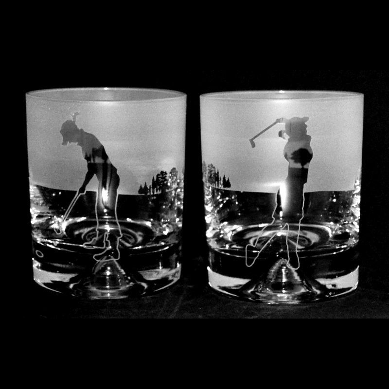 GOLF LADY – PAIR Whisky Tumbler