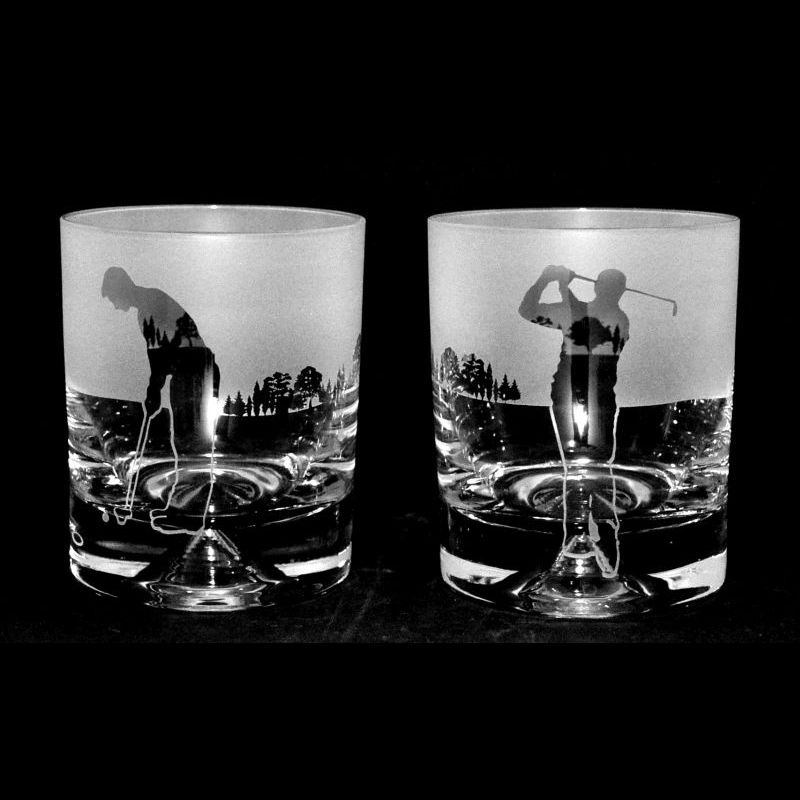 GOLF MAN – PAIR Whisky Tumbler