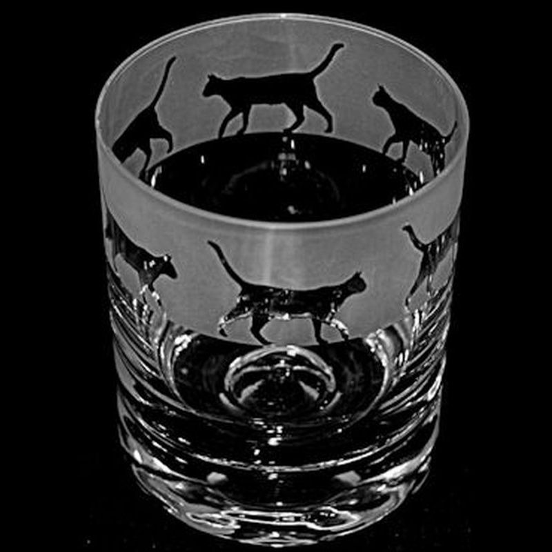 WALKING CAT Whisky Tumbler