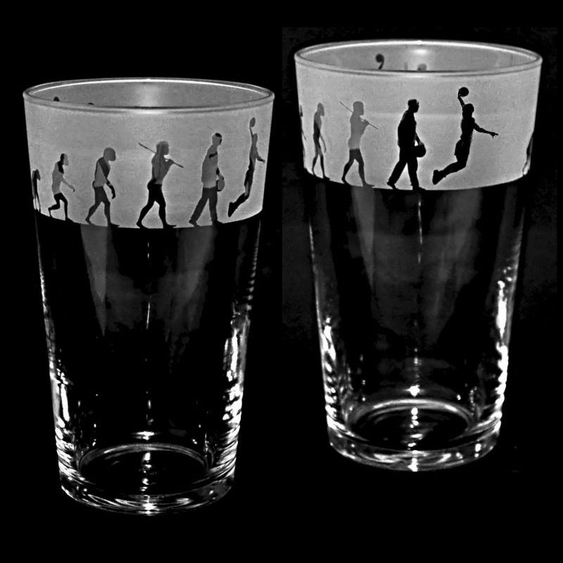 BASKETBALL EVOLUTION Conical Pint Glass 57cl