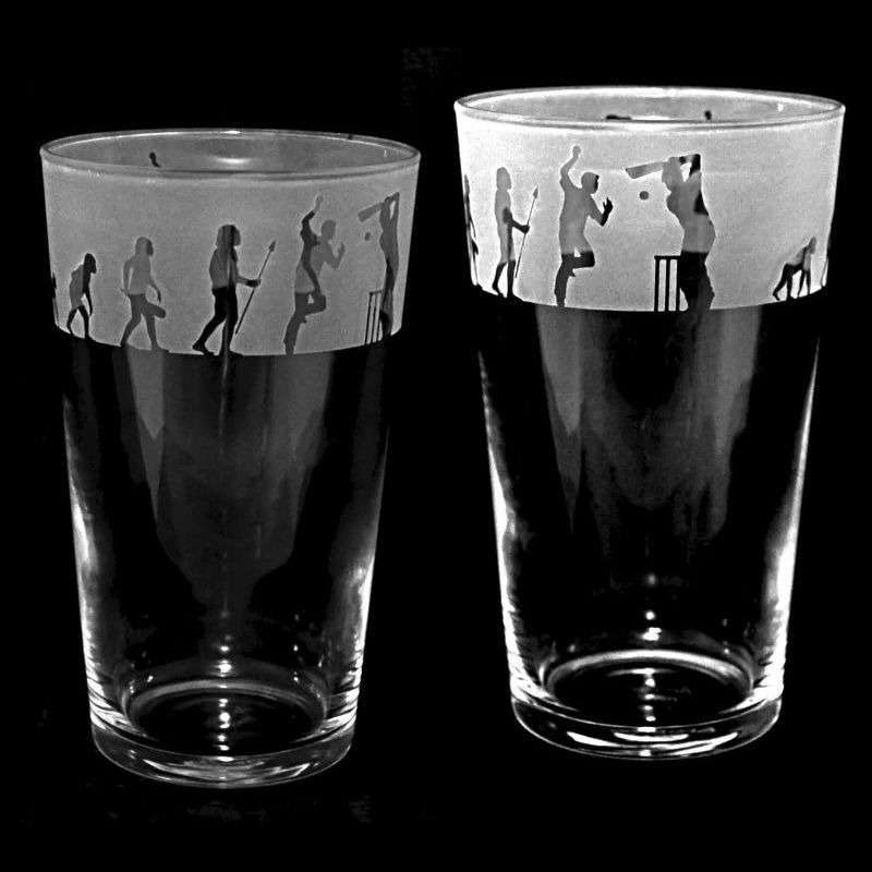 CRICKET EVOLUTION Conical Pint Glass 57cl