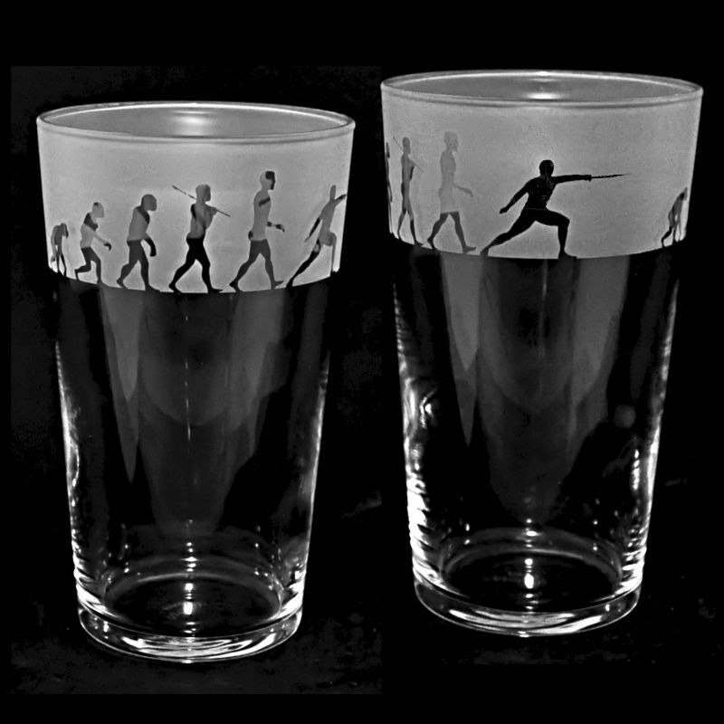 FENCING EVOLUTION Conical Pint Glass 57cl