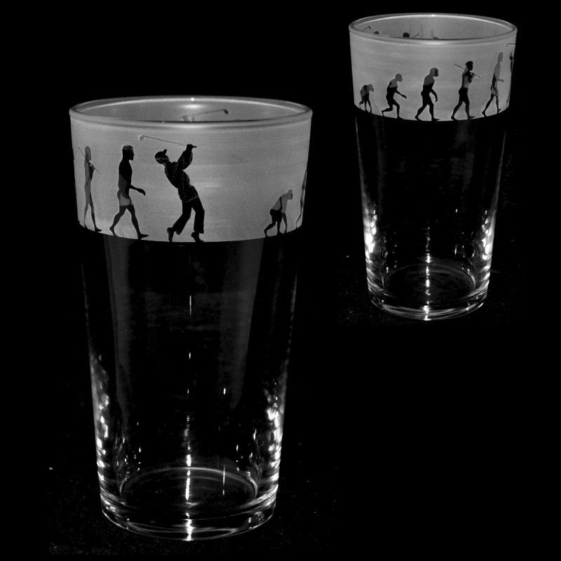 GOLF EVOLUTION Conical Pint Glass 57cl