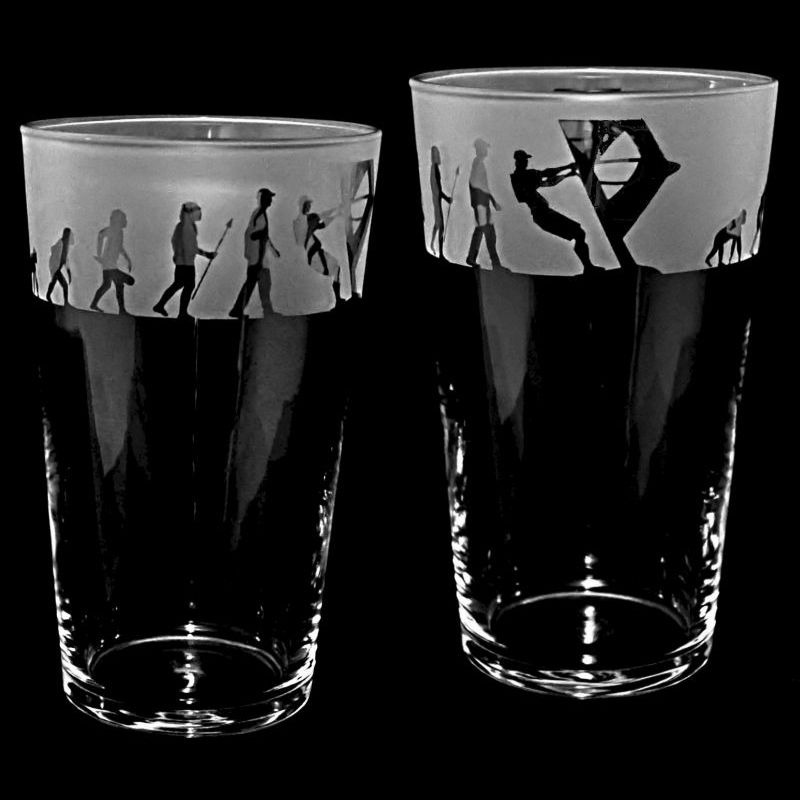 WINDSURFING EVOLUTION Conical Pint Glass 57cl
