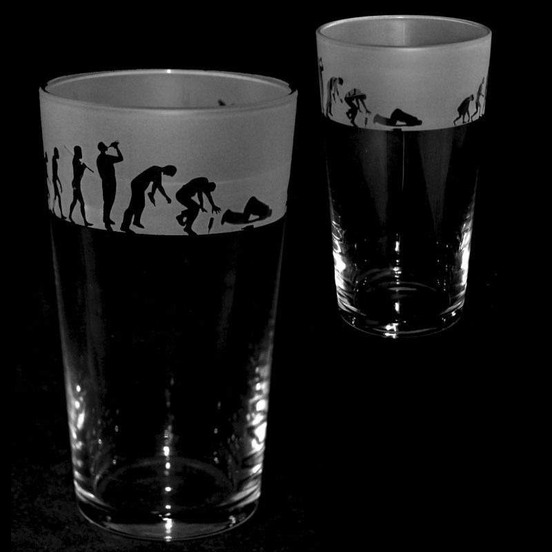 DRINKING EVOLUTION Conical Pint Glass 57cl