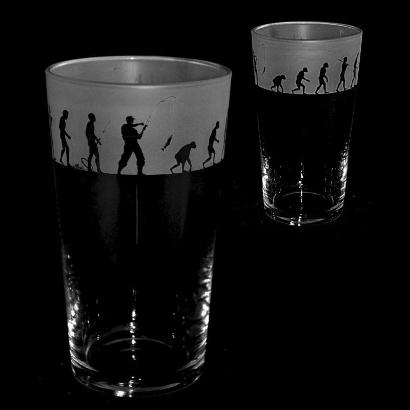 FISHING EVOLUTION Conical Pint Glass 57cl
