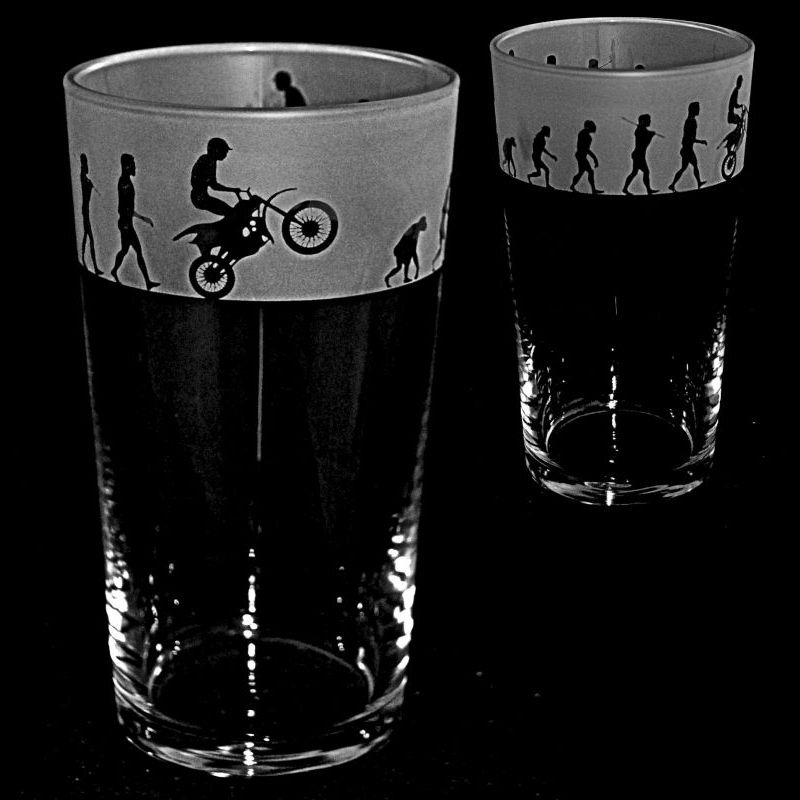 MOTORCROSS EVOLUTION Conical Pint Glass 57cl