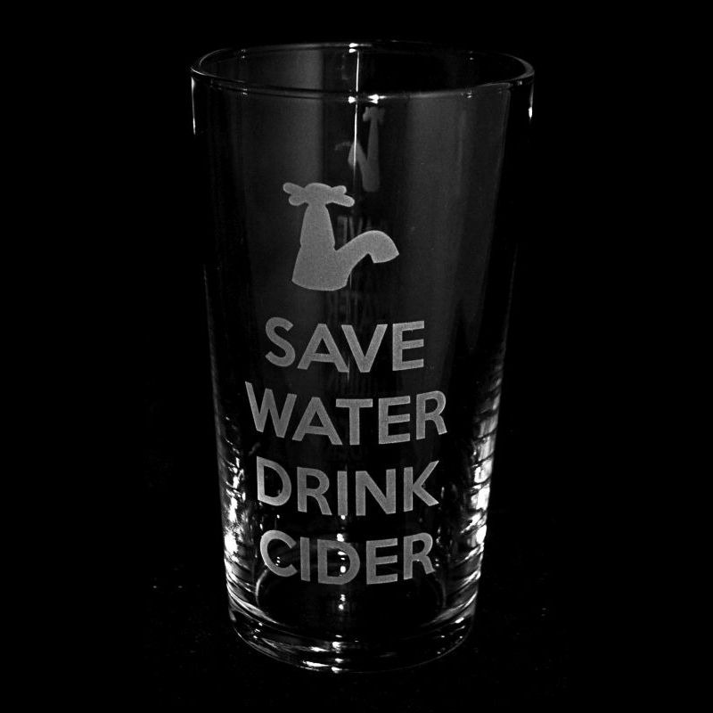 SAVE WATER DRINK CIDER Conical Pint Glass 57cl