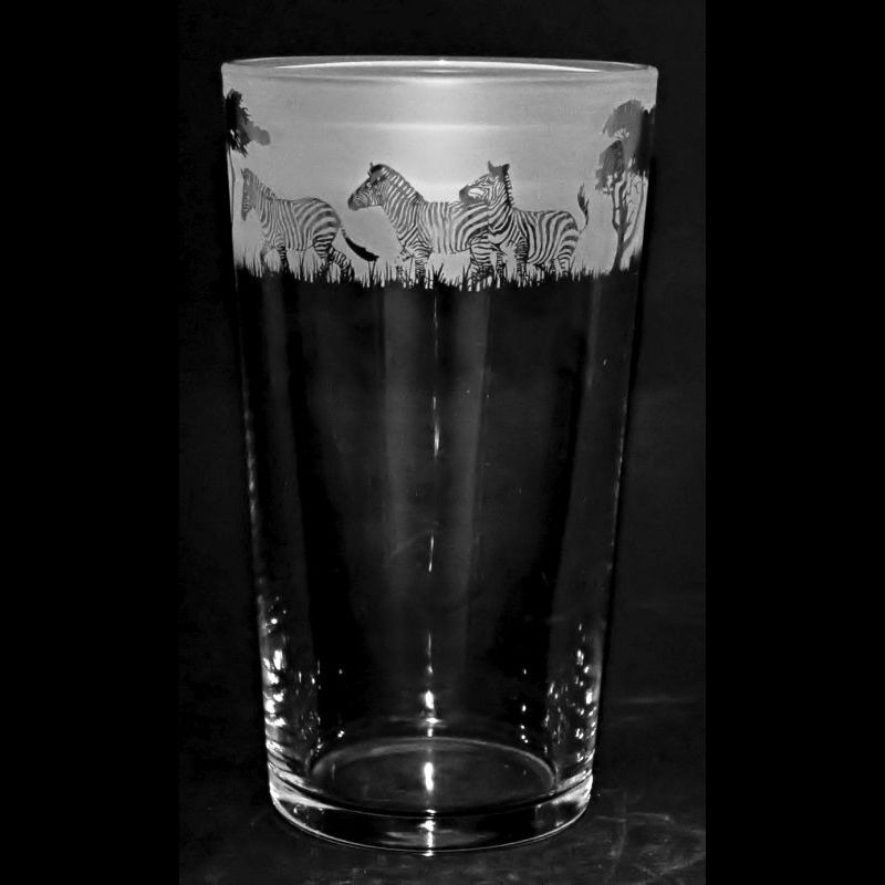 ZEBRA Conical Pint Glass 57cl