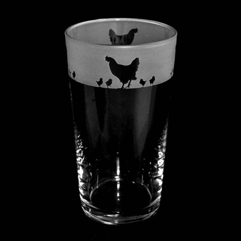 CHICKEN Conical Pint Glass 57cl
