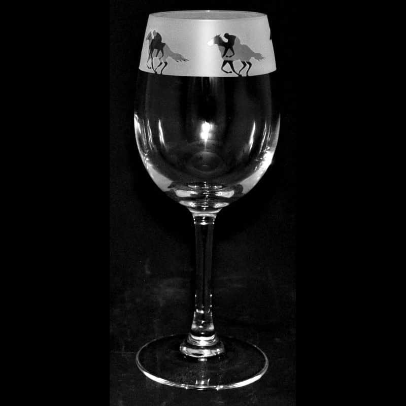 RACEHORSE Crystal Wine Glass 35cl