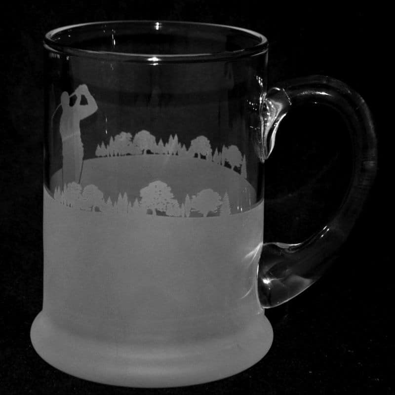 GOLF Crystal Pint Tankard 57cl