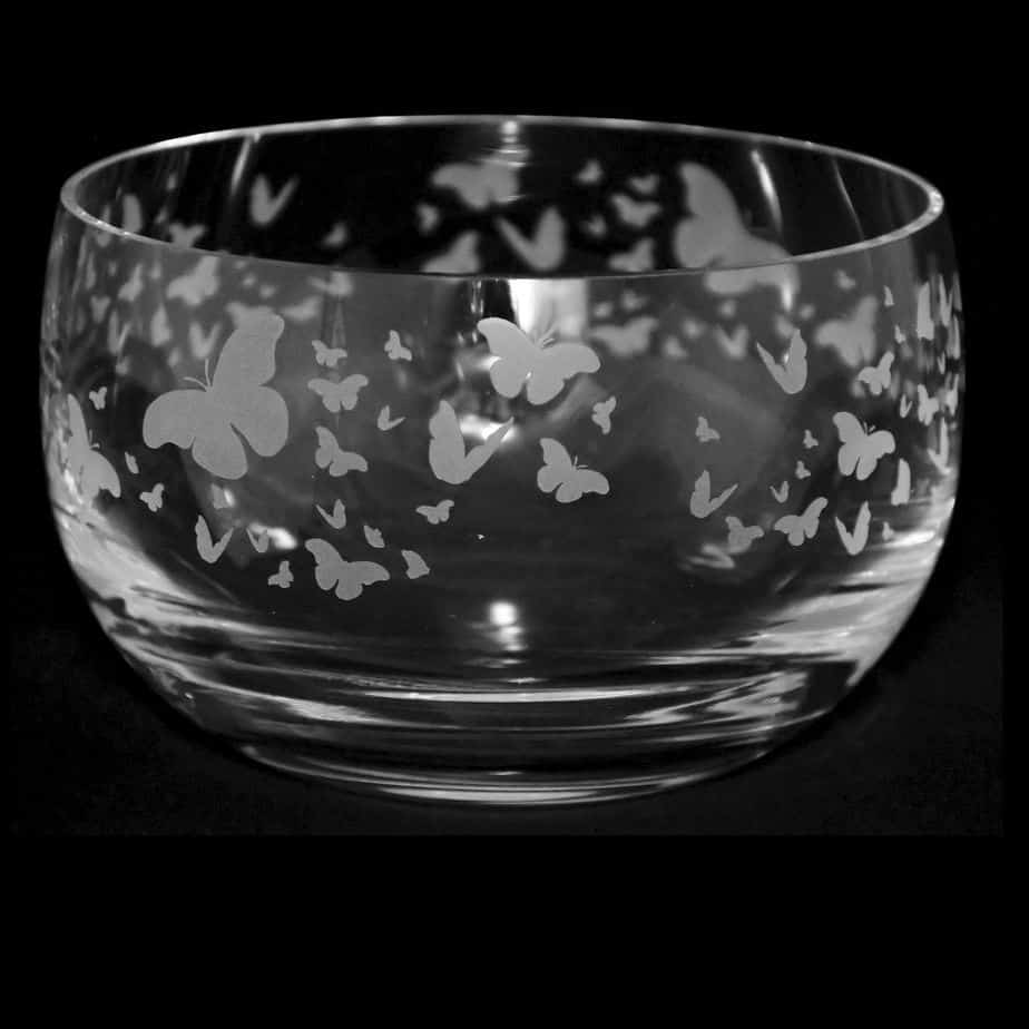 FLUTTERBY Small Crystal Glass Bowl
