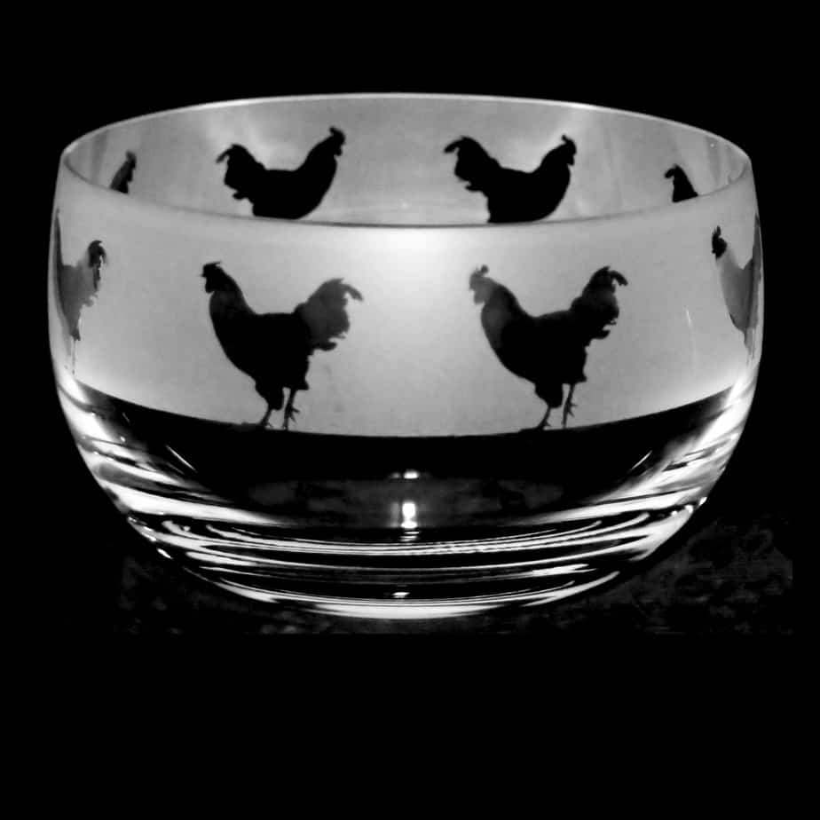 COCKEREL Small Crystal Glass Bowl