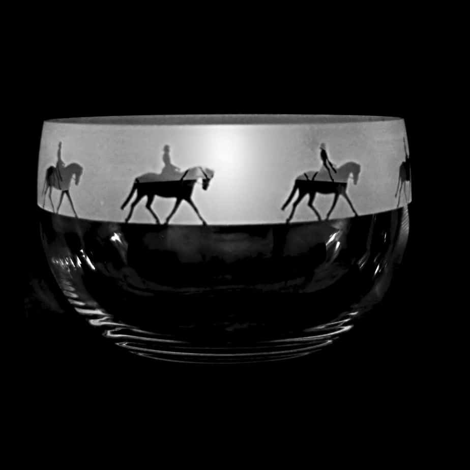 LADY DRESSAGE Large Crystal Glass Bowl