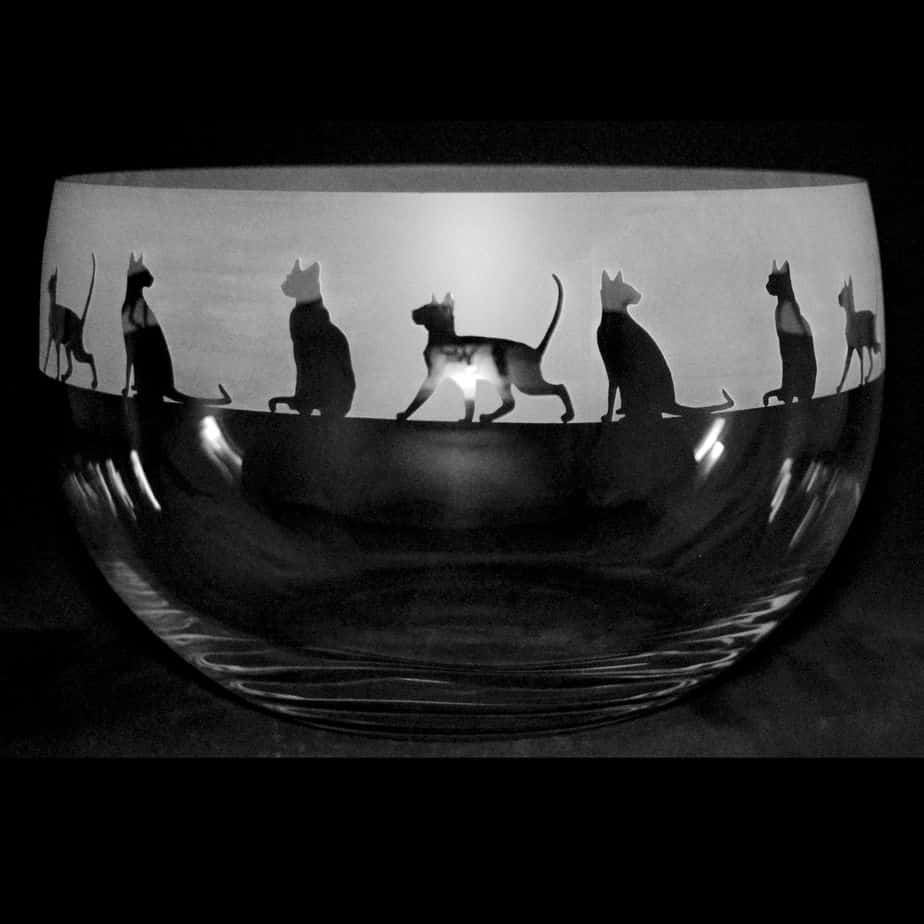 SIAMESE Medium Crystal Glass Bowl