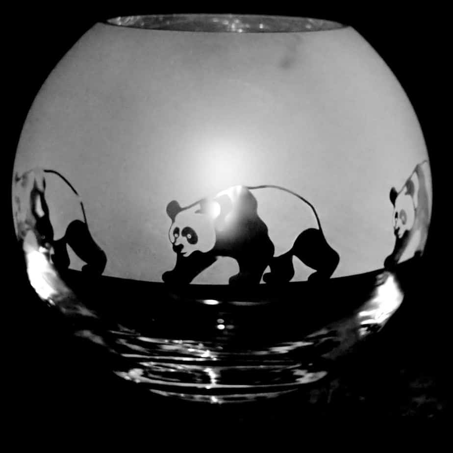 PANDA Small Crystal Glass Globe Vase