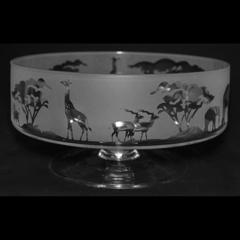 SAFARI 14cm Small Crystal Glass Footed Comport Bowl