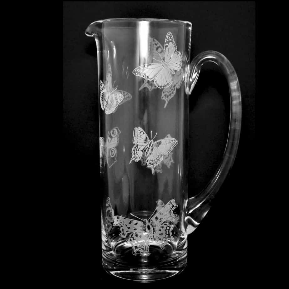 ALL OVER BUTTERFLIES 1.5 Litre Glass Jug