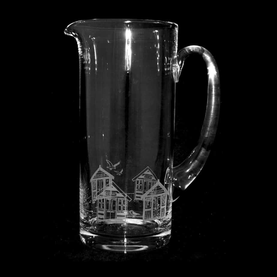 BEACH HUTS 1.5 Litre Glass Jug