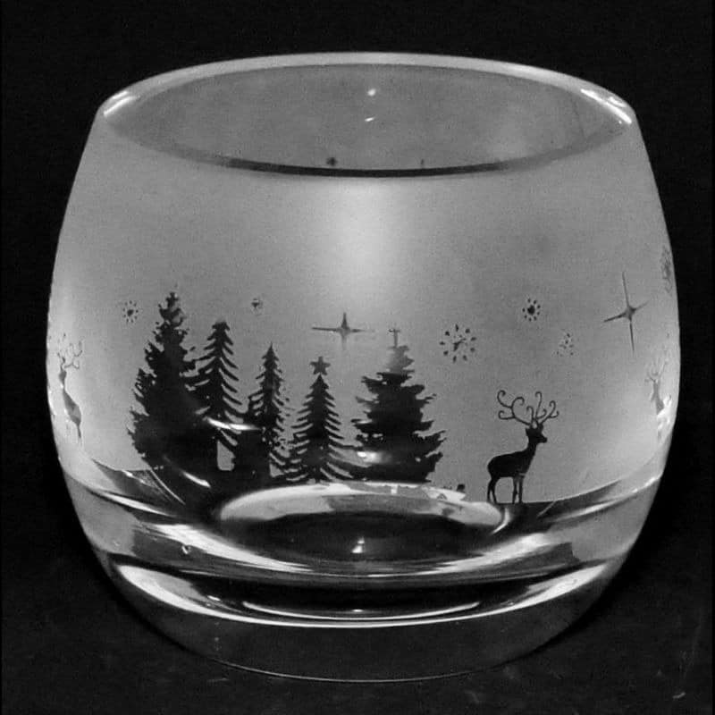 WINTER WONDERLAND Crystal Glass Tea Light Holder