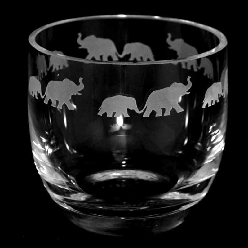ELEPHANT (CLEAR FRIEZE) Large Candle Pot