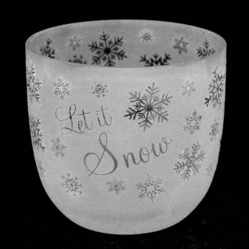 LET IT SNOW Large Candle Pot