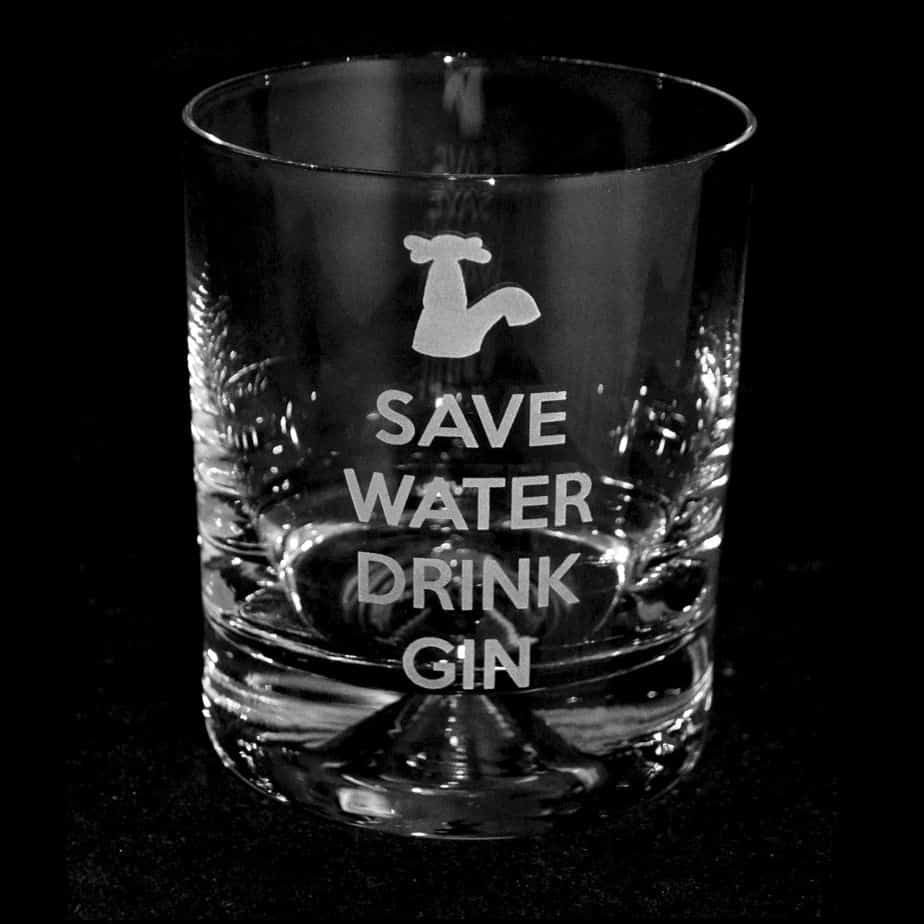 SAVE WATER DRINK GIN Tumbler