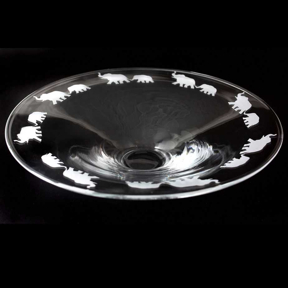 ELEPHANT Small Glass Platter