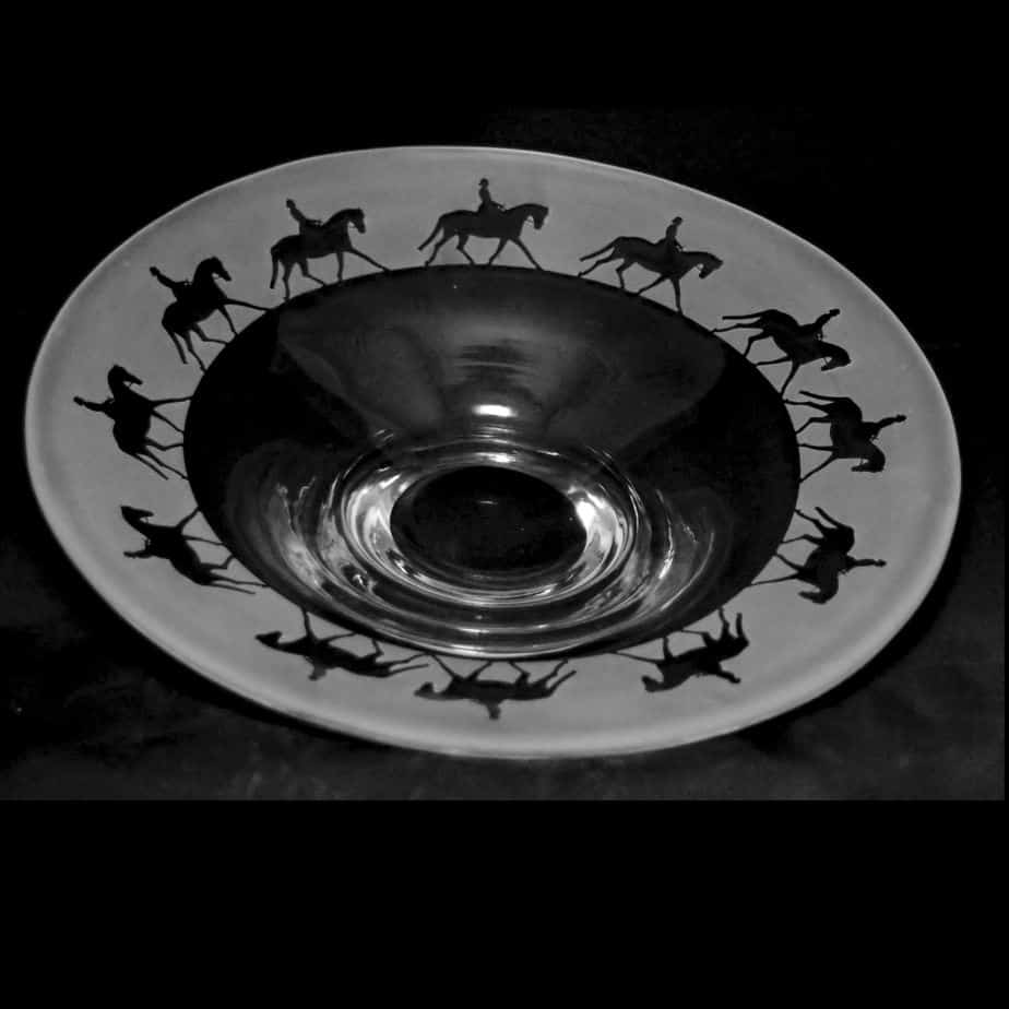 LADY DRESSAGE Small Glass Platter