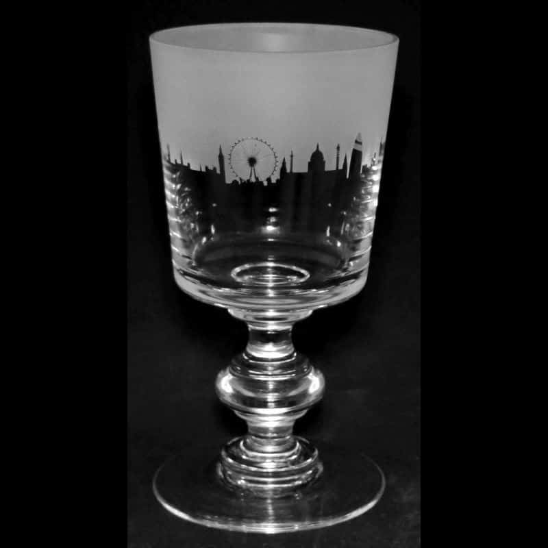 LANDMARK LONDON Crystal Chalice Goblet 30cl