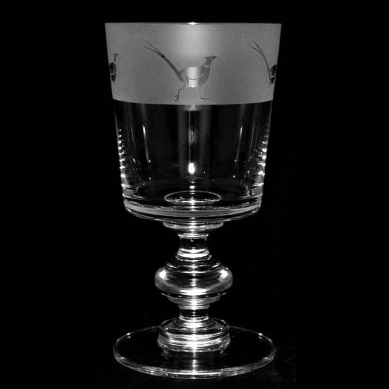 PHEASANT Crystal Chalice Goblet 30cl
