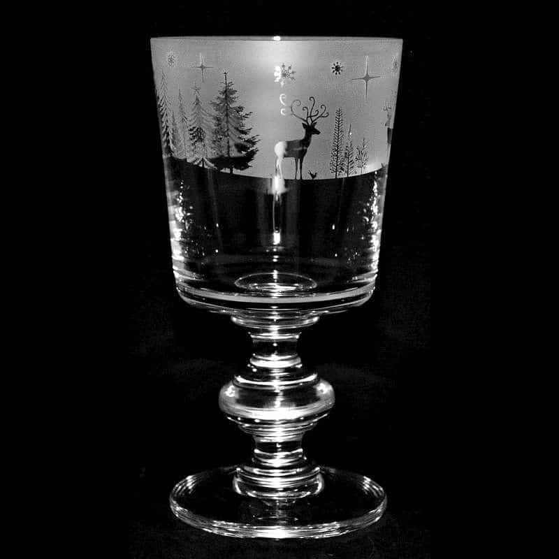 WINTER WONDERLAND Crystal Chalice Goblet 30cl
