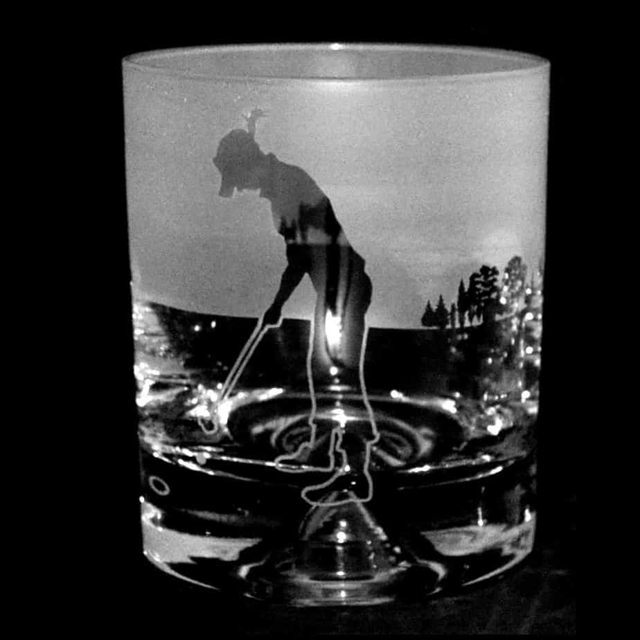 GOLF LADY- PUTT – Whisky Tumbler