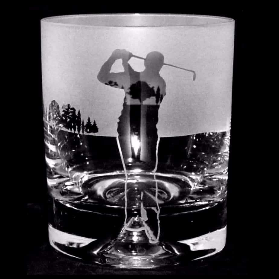 GOLF MAN – SWING – Whisky Tumbler