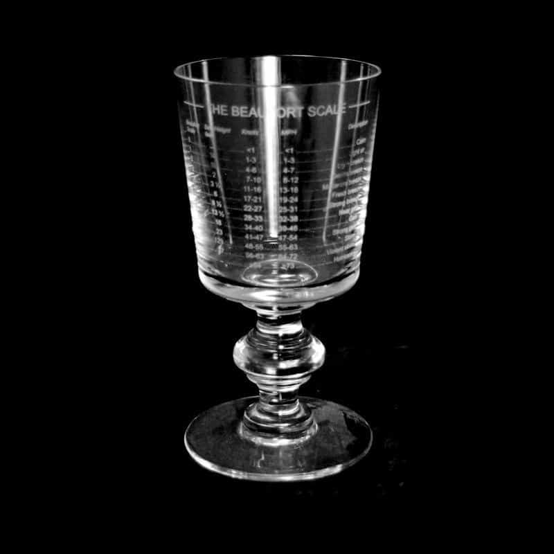 BEAUFORT SCALE Crystal Chalice Goblet 30cl