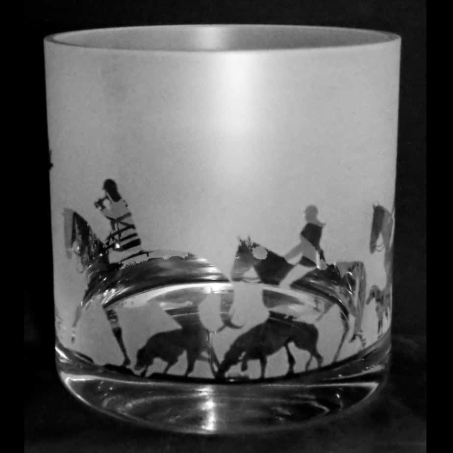 COUNTRY LIFE HUNTING 17cm Glass Column Vase / Candleholder