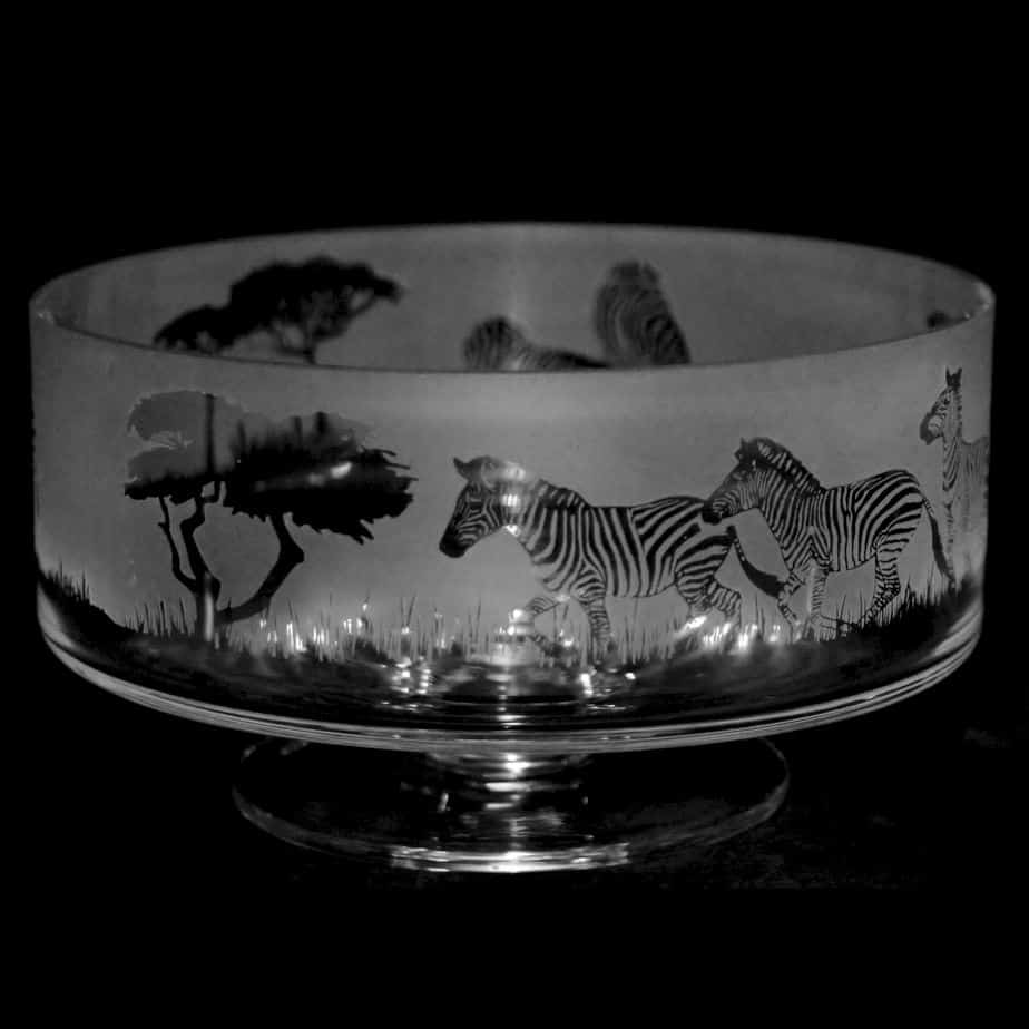ZEBRA 14cm Small Crystal Glass Footed Comport